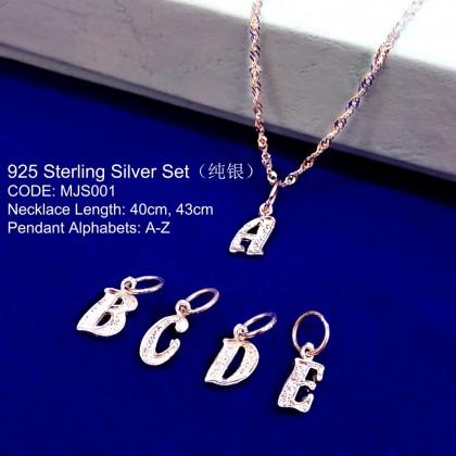 Necklace ABC Sterling Silver 925 Set ( Rantai ABC Perak 925 Set )
