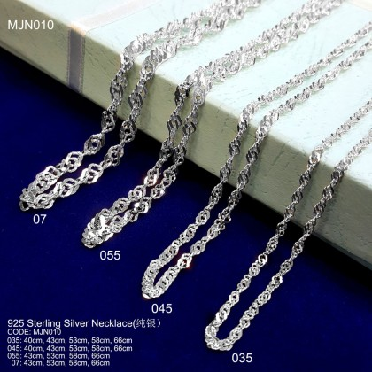 925 STERLING SILVER NECKLACE(RANTAI SILVER )纯银项链