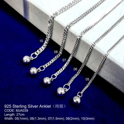 925 STERLING SILVER ANKLET(GELANG KAKI SILVER )纯银脚链