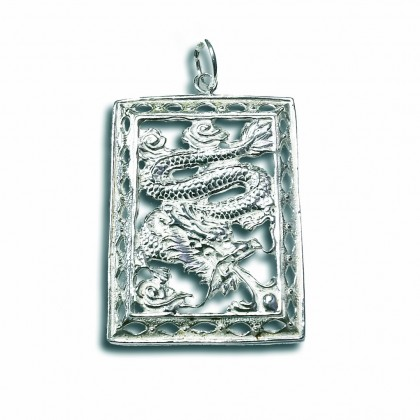 STERLING SILVER 925 PENDANT DRAGON